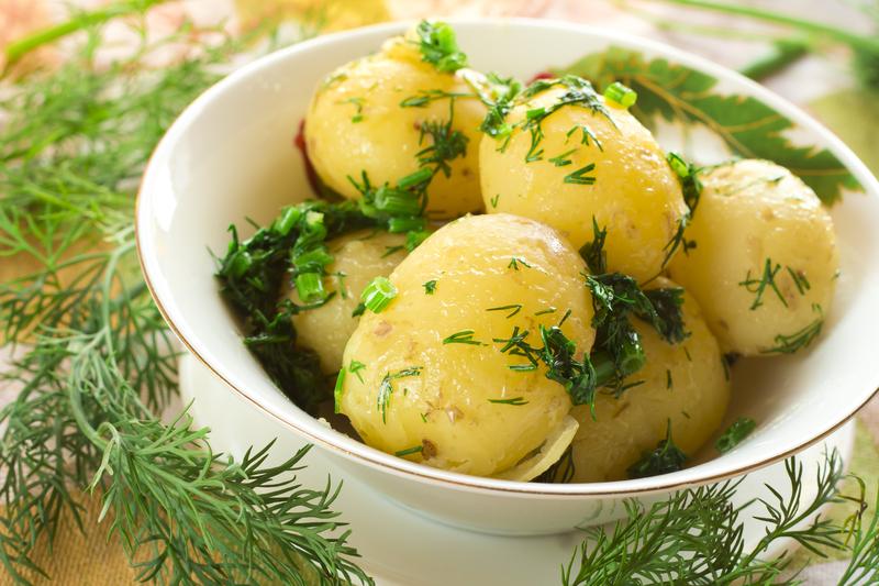 marinerede, kartofler
